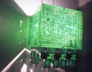 Green PCB Chandelier