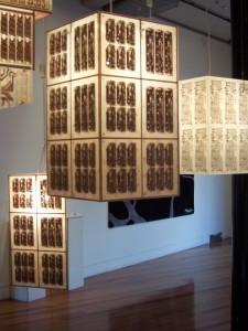 Large PCB Pendant lamp Choice 2006 Exhibition CQ Gallery Brisbane