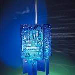 Blue PCB Pendant Lamp