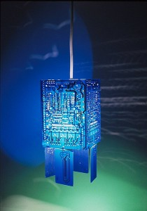Blue PCB Pendant Lamp
