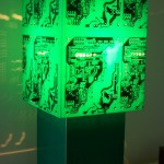 PCB Green Table Lamp