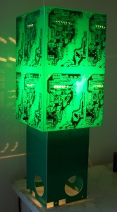 PCB Green Table Lamp