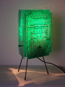 Small PCB Table Lamp on Stand